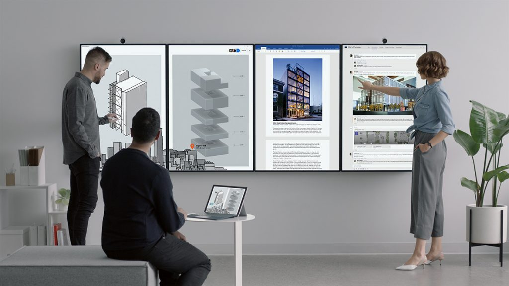 Microsoft's Surface Hub 2 can be upgraded with a CPU cartridge