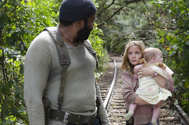 Tyreese (Chad Coleman) and Lizzie (Brighton Sharbino) - The Walking Dead _ Season 4, Episode 14 - Photo Credit: Gene Page/AMC