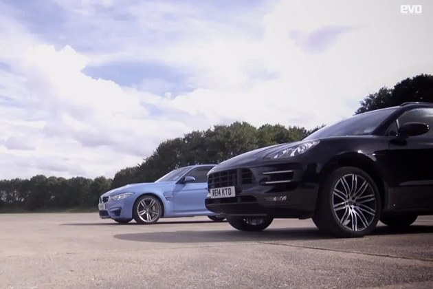 【ビデオ】BMW「M3」とポルシェ「マカンターボ」が、0-1000m直線対決!