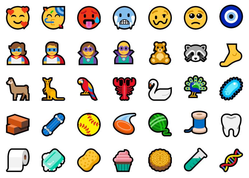 Unicode 11's 157 new emojis