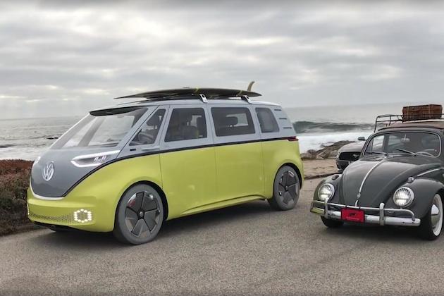 【ビデオ】フォルクスワーゲンのEV版マイクロバス「I.D. Buzz」が、実際に走る姿を披露!