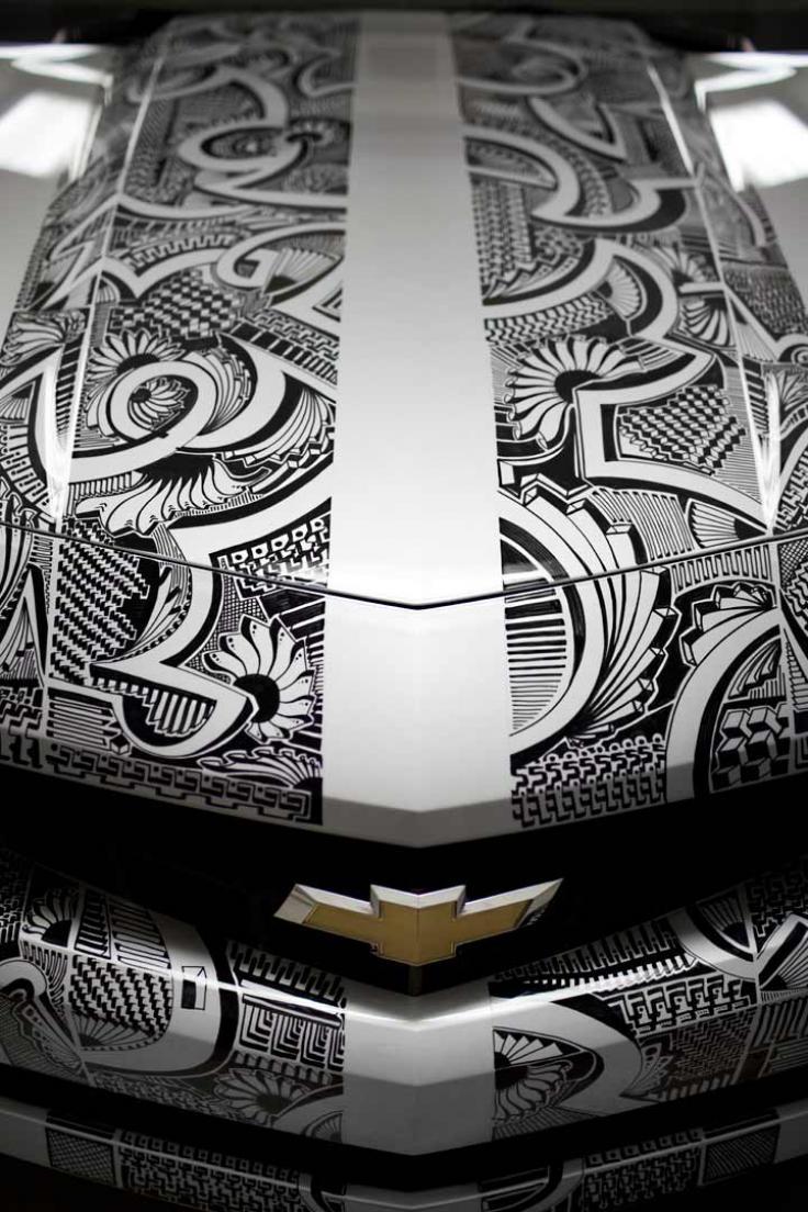 Camaro Hood Marker Art