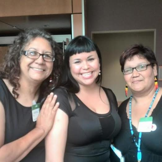 The author, Bridget Tolley and Colleen Cardinel from Families of Sisters in Spirit after the author's...