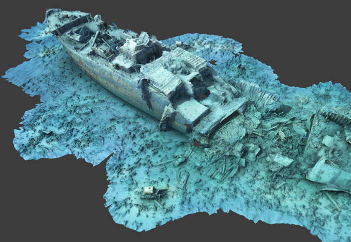 Bringing a shipwreck back to life with photogrammetry