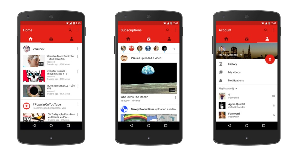 Youtube Has A New Mobile App Now 3d Vr Video Coming Soon