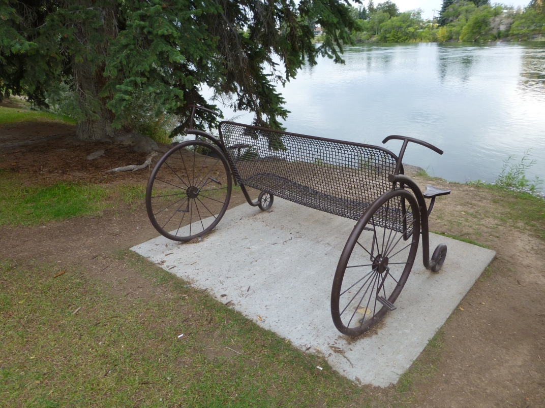 Bicycle Bench on the Snake River Greenbelt