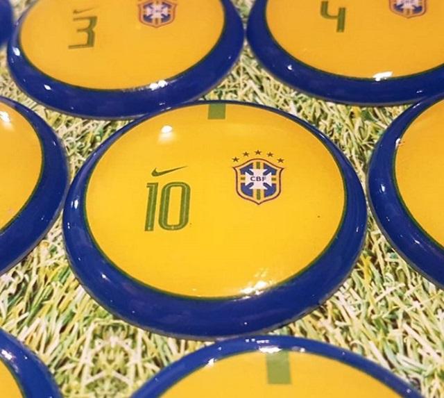 Seleção Brasileira está convocada e pronta para a Copa do Mundo... De botão.