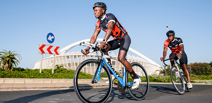 Durban triathlete Mhlengi Gwala