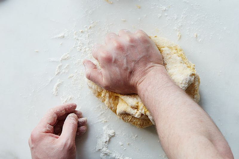 How to knead pasta dough