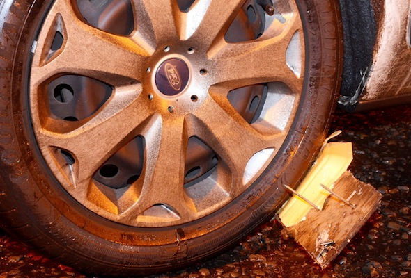 punctured tyre