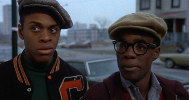 Lawrence Hilton-Jacobs and Glynn Turman in Cooley High
