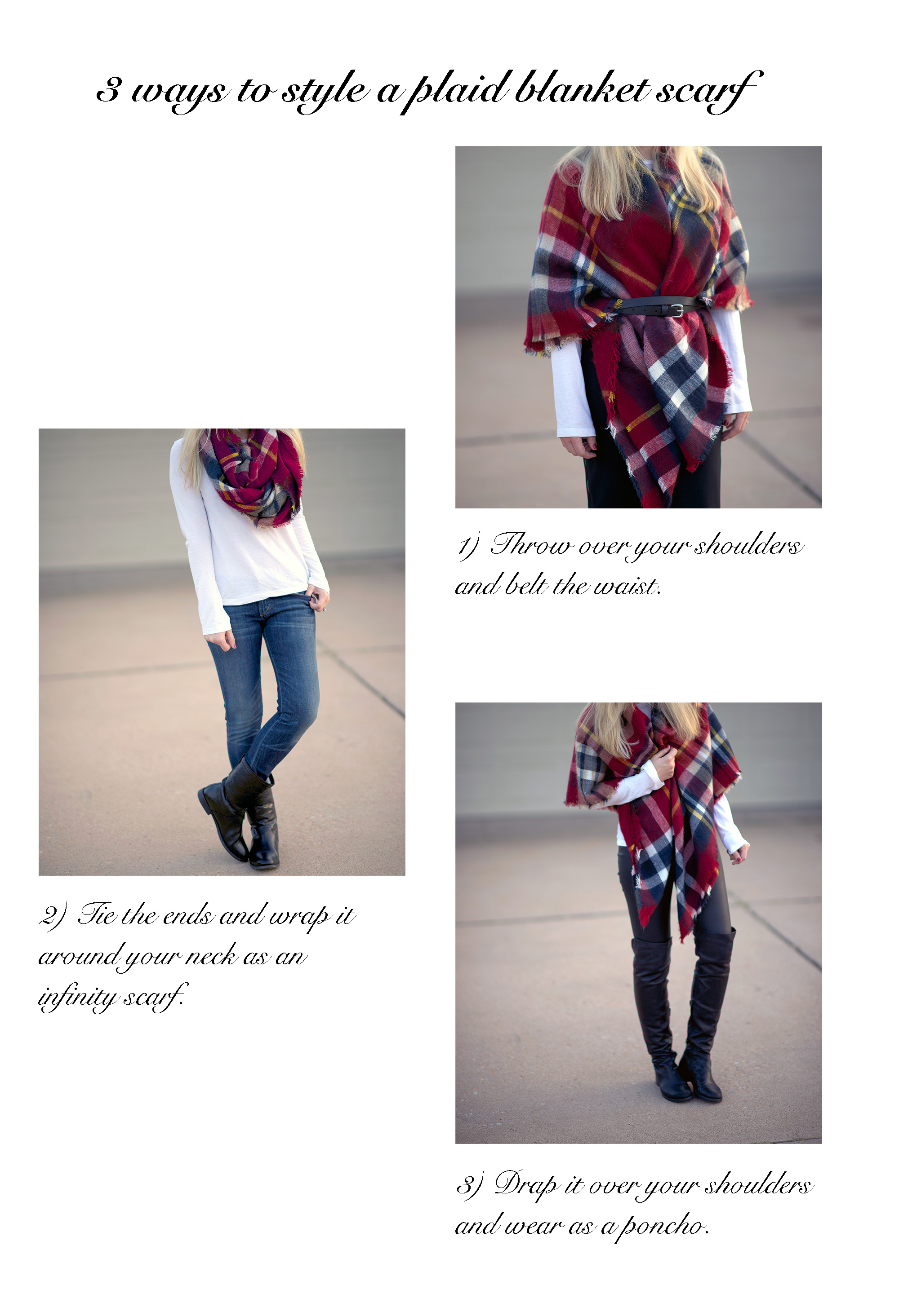 how to style a plaid scarf