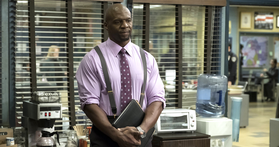 "BROOKLYN NINE-NINE: Terry Crews in the new ""Moo Moo"" episode of BROOKLYN NINE-NINE airing Tuesday, May 2 (8:00-8:31 PM ET/PT) on FOX Cr: John P. Fleenor/FOX"