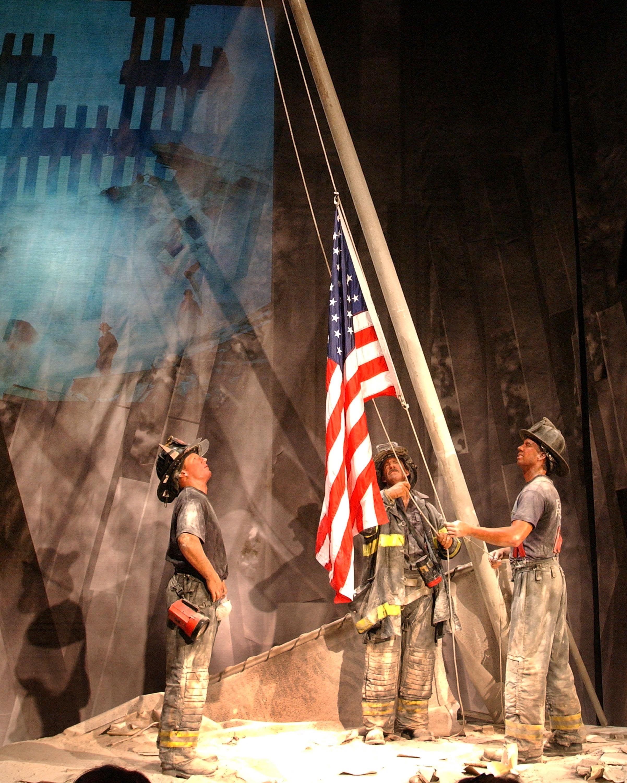 Wax Replica of Iconic 9/11 Photo