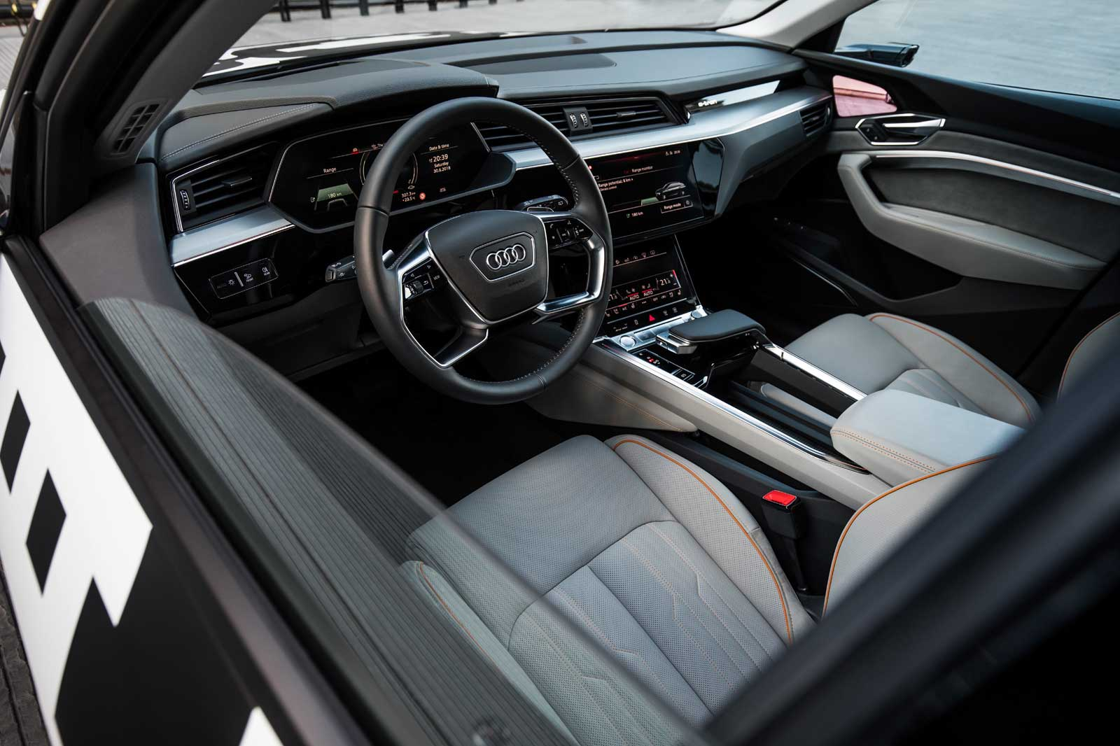 Audi shows off its electric SUV's screen-filled interior
