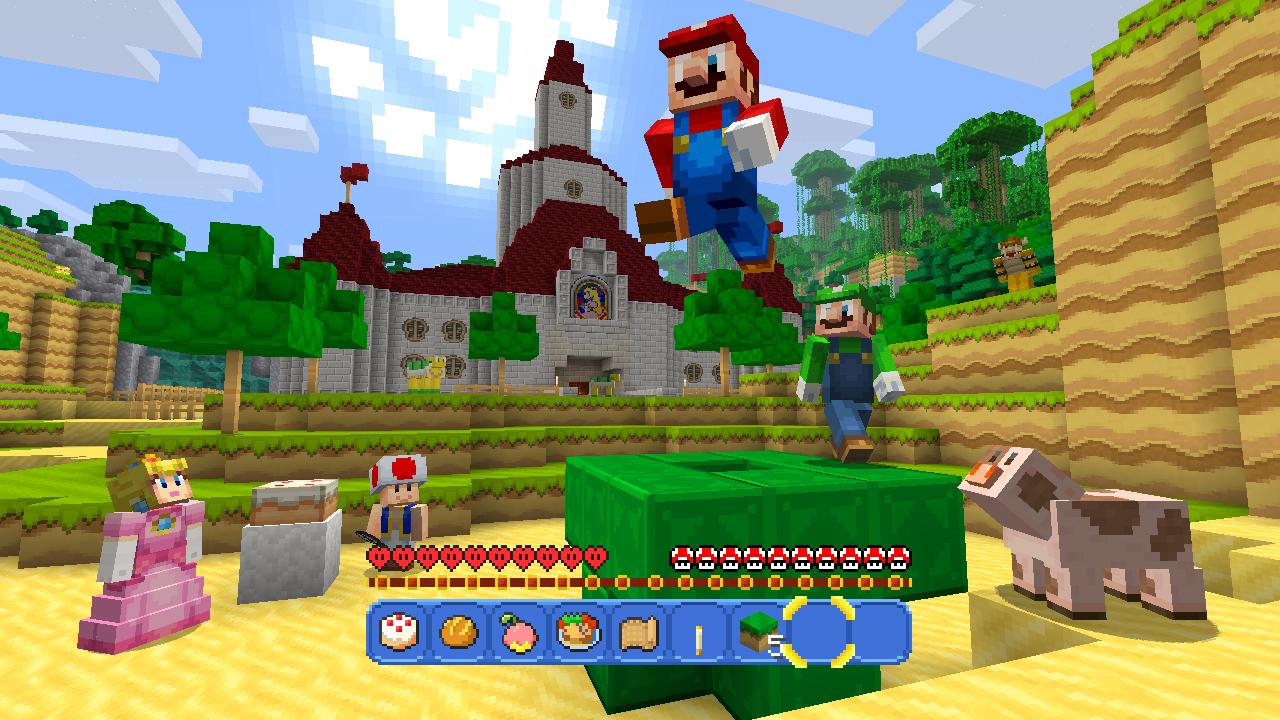 マインクラフトにスーパーマリオが公式参戦 wii u版minecraftだけの独占