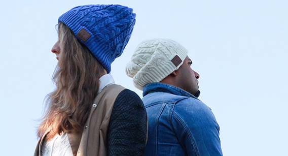 Archos music beany on two unsmiling models