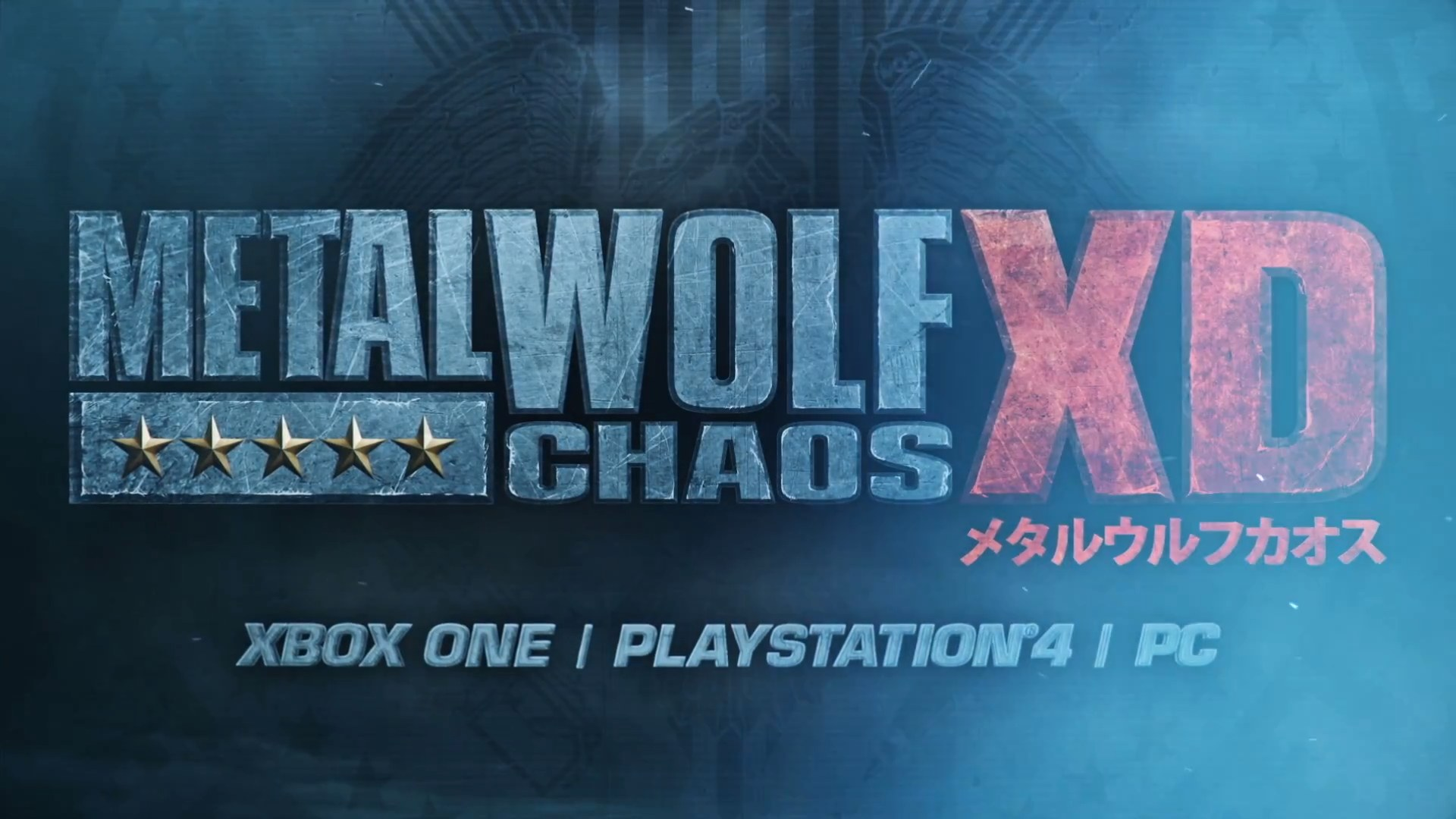 Metal Wolf Chaos XD announced for PS4, Xbox One, and PC