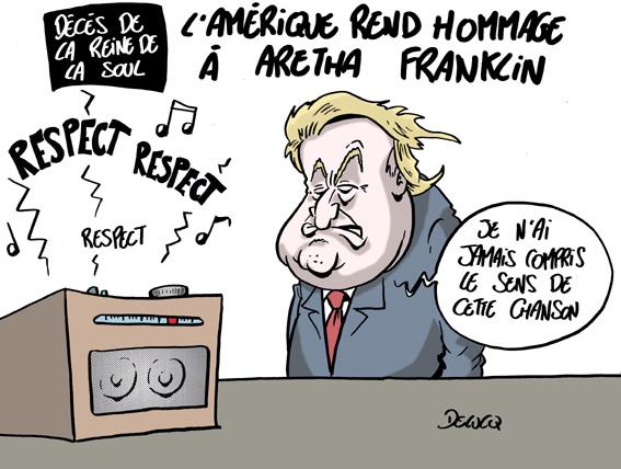 Donald Trump aussi a rendu hommage à Aretha Franklin, mais sait-il vraiment