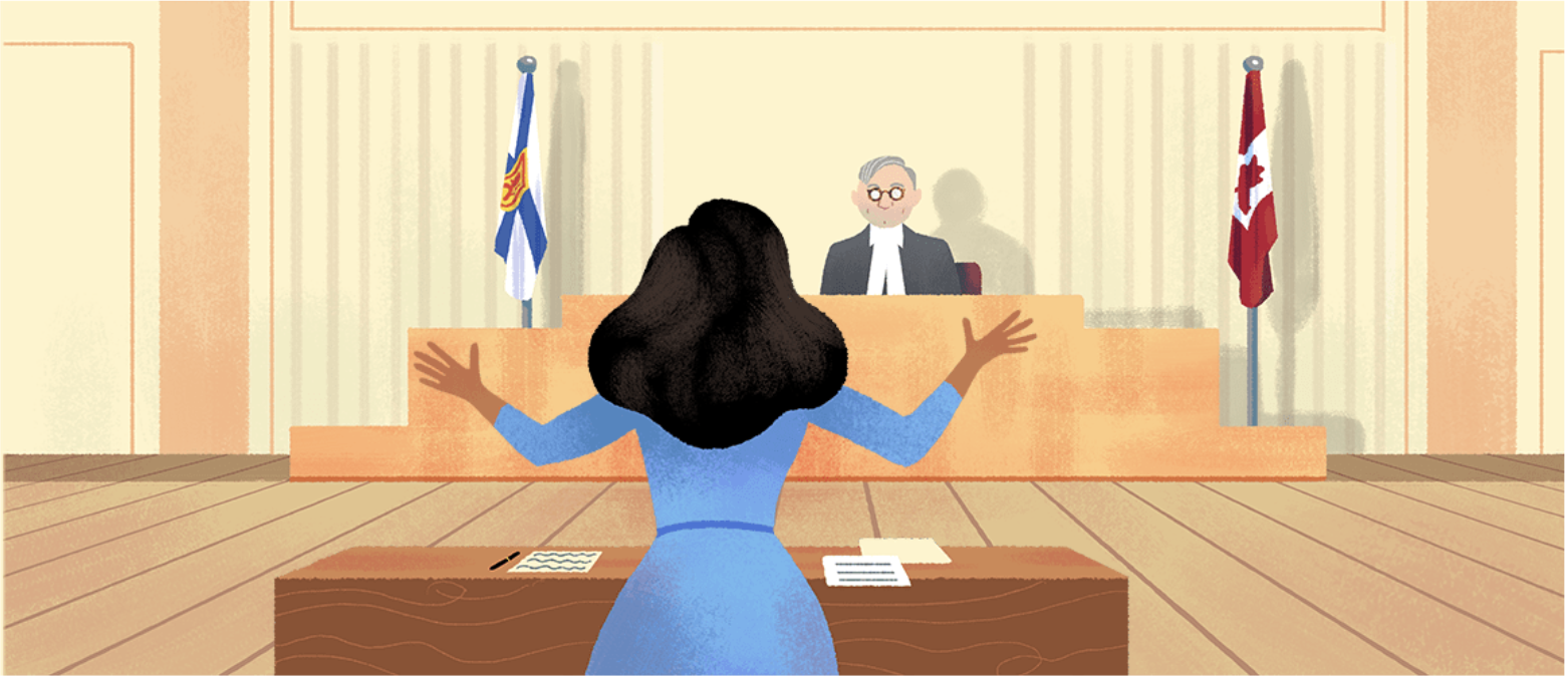 Desmond appeared in court following her arrest. Can you spot the Nova Scotia detail in this Google Doodle...