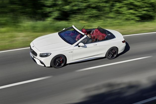 Mercedes-AMG S 63 4MATIC+ Cabriolet, 2017. Exterieur: designo diamantweiß bright;Kraftstoffverbrauch kombiniert: 10,1 l/100 km; CO2-Emissionen kombiniert: 229 g/km*  Mercedes-AMG S 63 4MATIC+ Cabriolet, 2017. Exterior: designo diamond white bright;Fuel consumption combined: 10.1 l/100 km; CO2 emissions combined: 229 g/km*