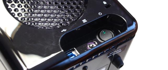 Rear ports on a Drobo 4-bay