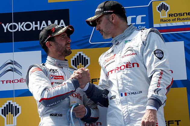 シトロエン、WTCC第5戦ロシアでもレース1の1-2フィニッシュ連続記録を伸ばす