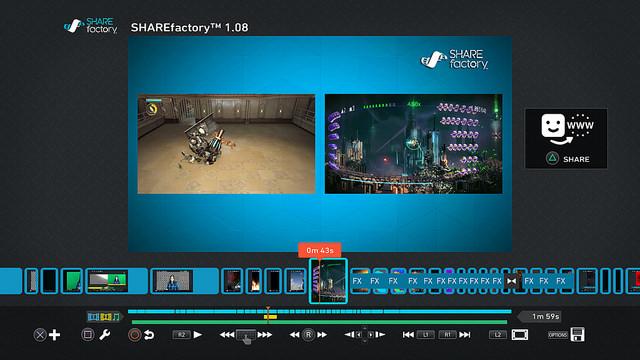 Engadget Logo日本版PS4動画編集アプリSHARE factoryに2つの動画を並べる機能が追加。出力時間も30分から60分に倍増