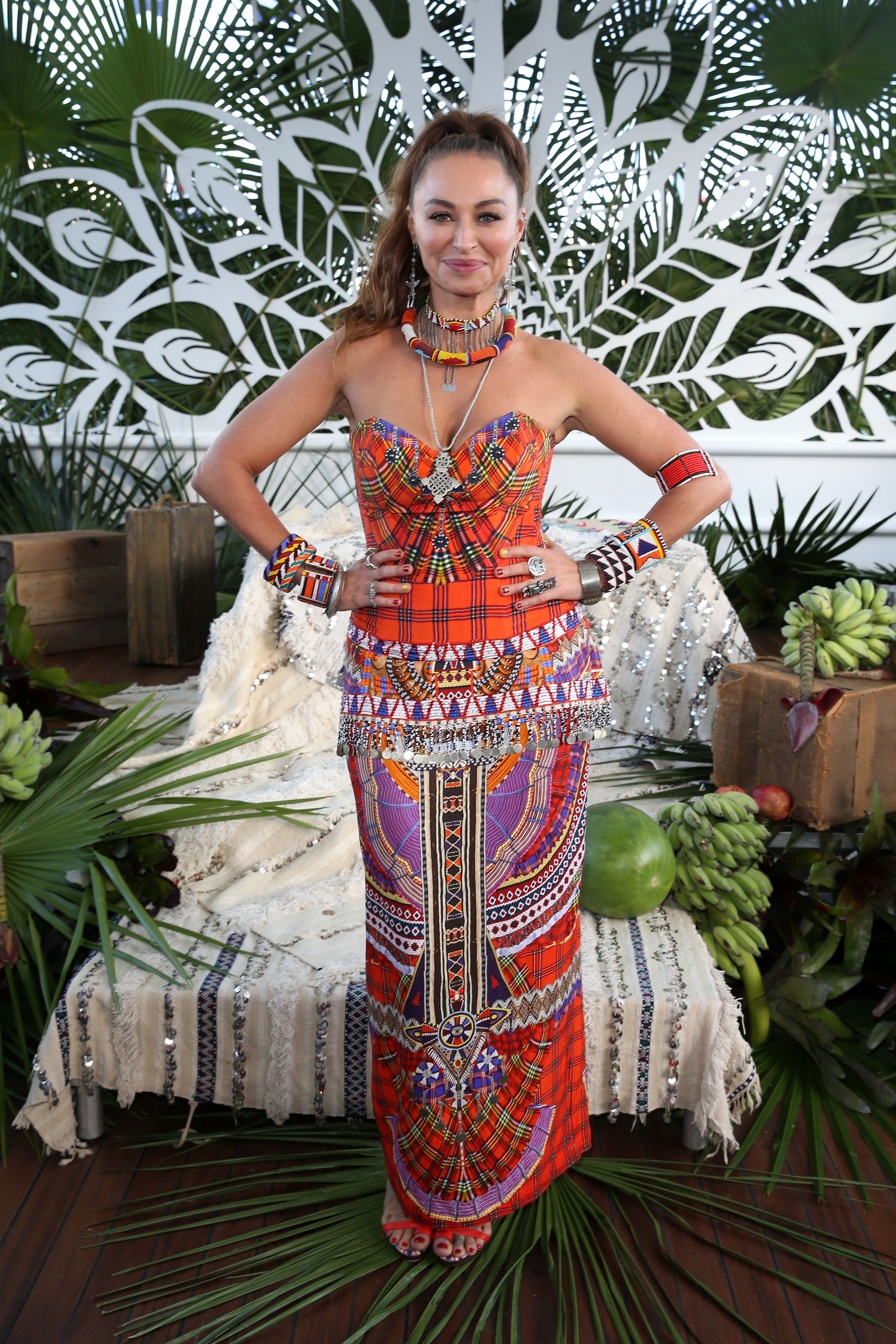 SYDNEY, AUSTRALIA - MAY 19: Designer Camilla Franks poses ahead of the Camilla show at Mercedes-Benz...