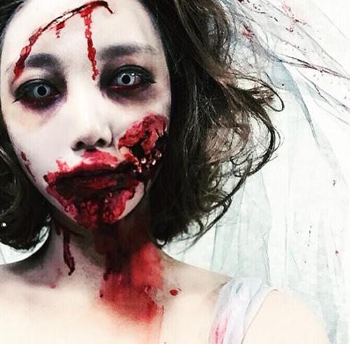 「ゾンビメイク 怖い」の画像検索結果