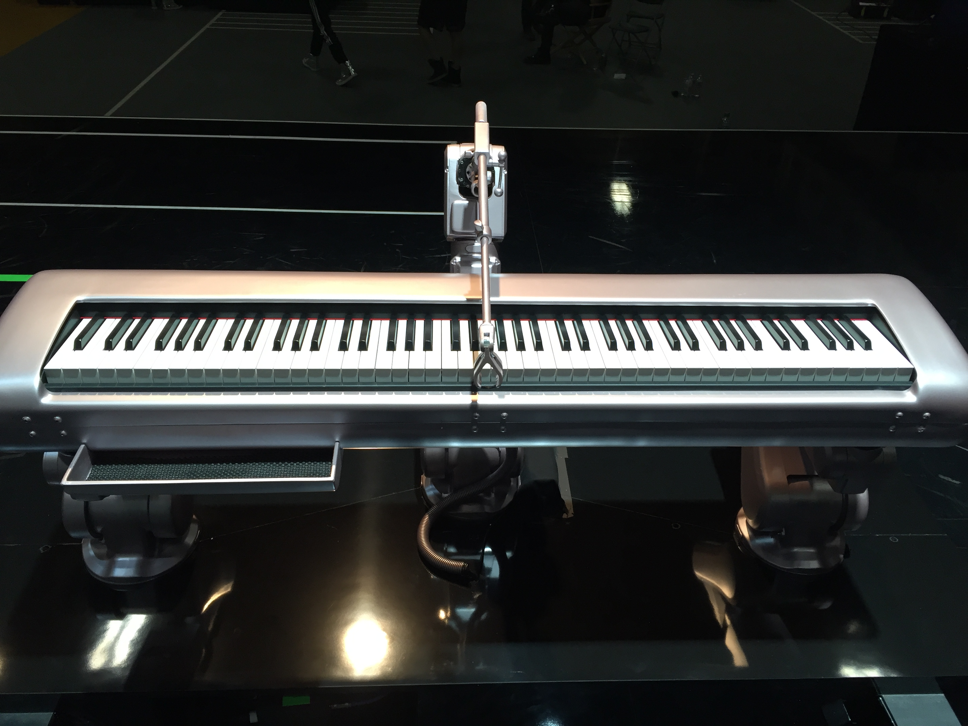 Lady gagas robotic keyboard had some help from nasa the rose gold robotic keyboard image credit lg industrial bots or any bots for that matter hadnt before been used on a stage as grand as the ccuart Image collections