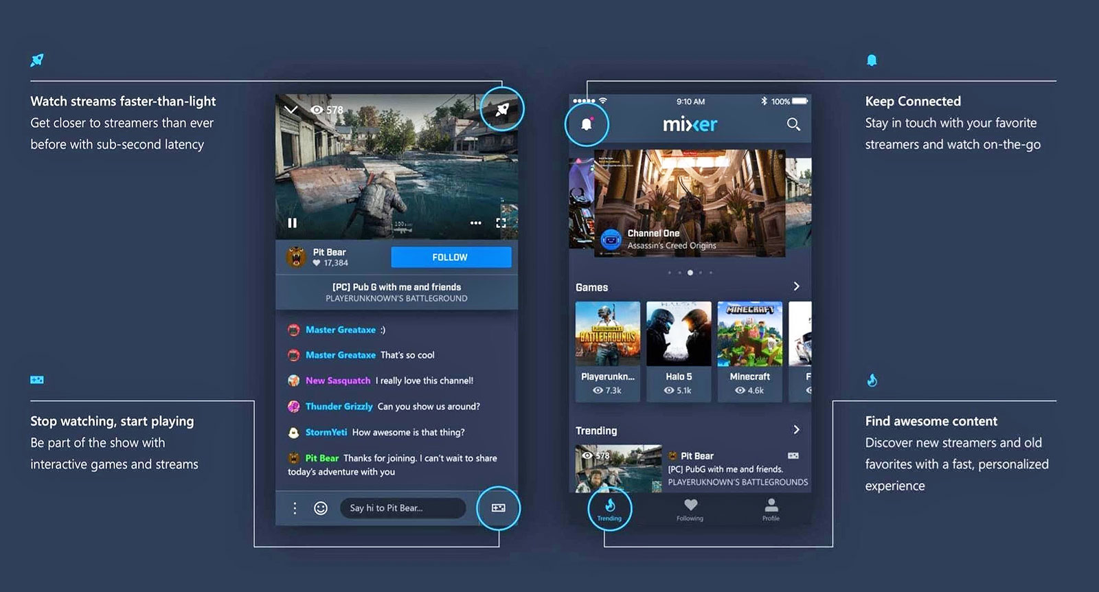 Microsoft's Mixer app relaunches with more streaming features
