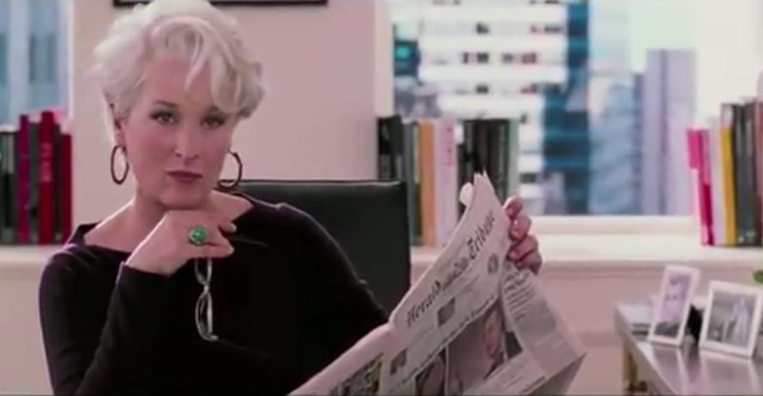 En el papel de Miranda Pristley, en 'El diablo se viste a la, moda', un papel que le ganó amplia