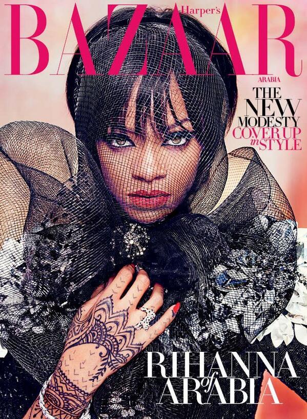 რიანა 'Harpers Bazaar Arabia' ჟურნალისთვის 2014