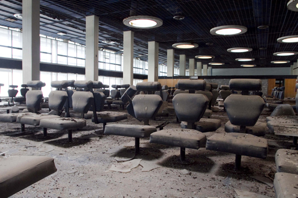 Interior spaces of the abandoned airport of Nicosia.