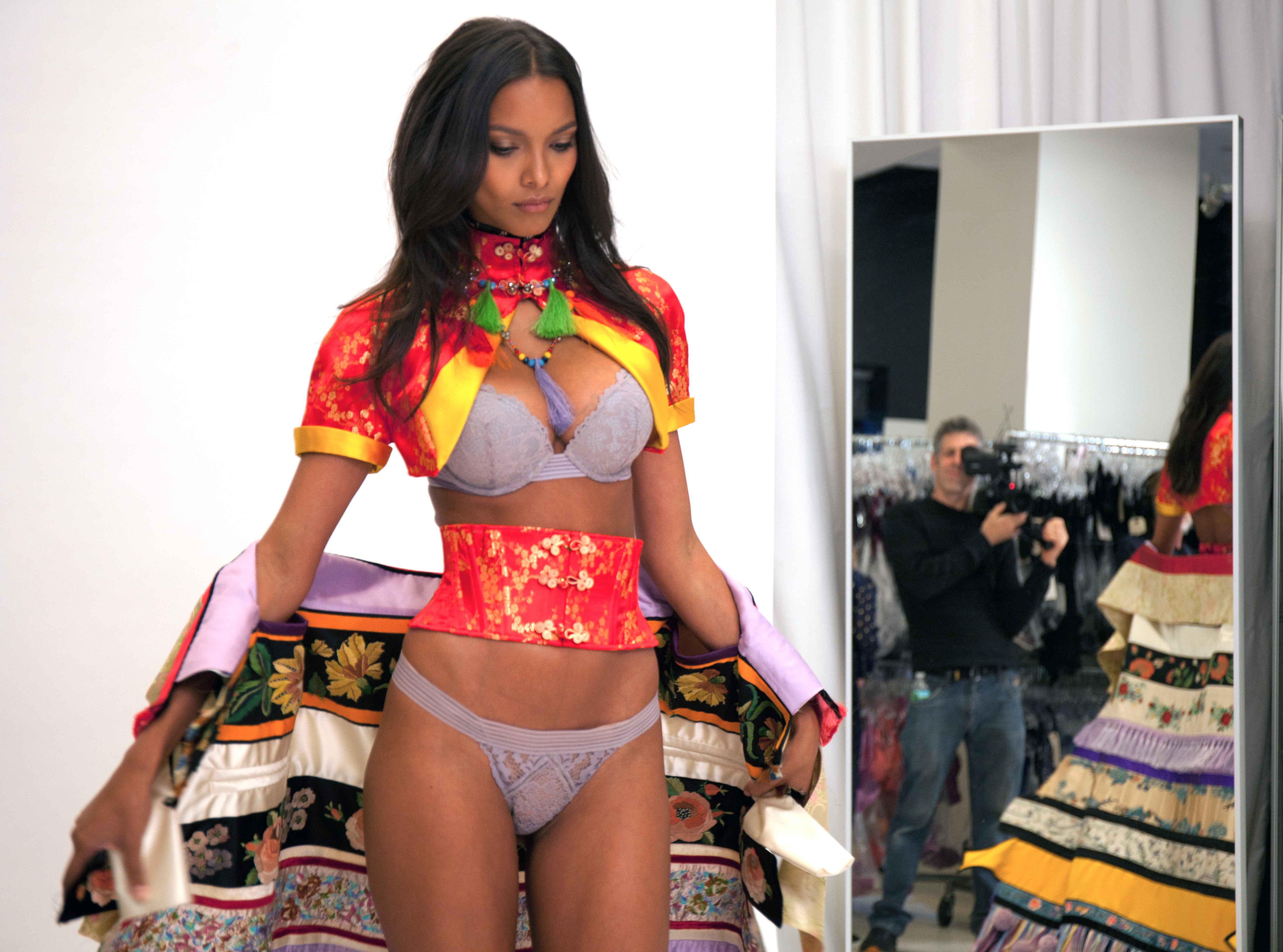 "Lais Ribeiro's Victoria's Secret fitting 2016 for the section ""The Road Ahead"""