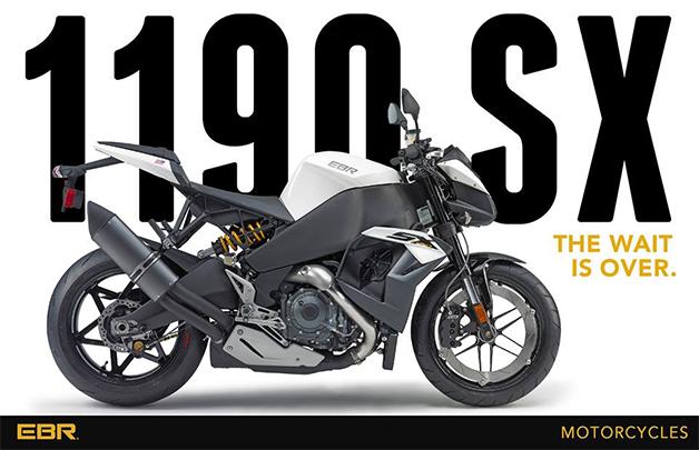 【ビデオ】米EBRが新型スーパーバイク「1190SX」をお披露目
