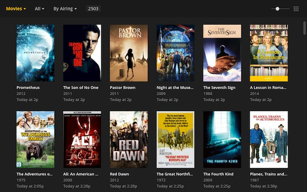 Plex's grid guide gives cord cutters a traditional TV look