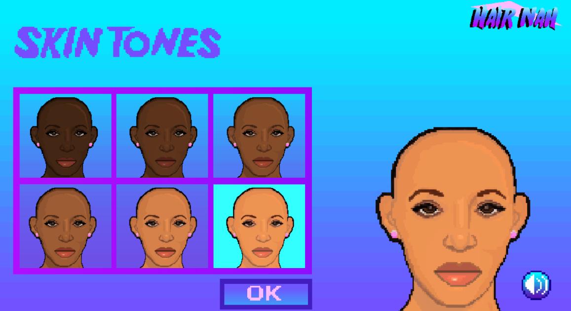 Ce jeu viral met en vedette une femme noire qui ne veut pas qu'on touche ses