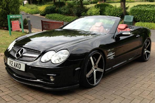 Prince Naseem Hamed's Mercedes SL for sale