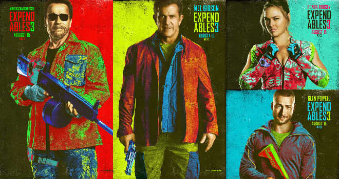 expendables 3 comic-con posters