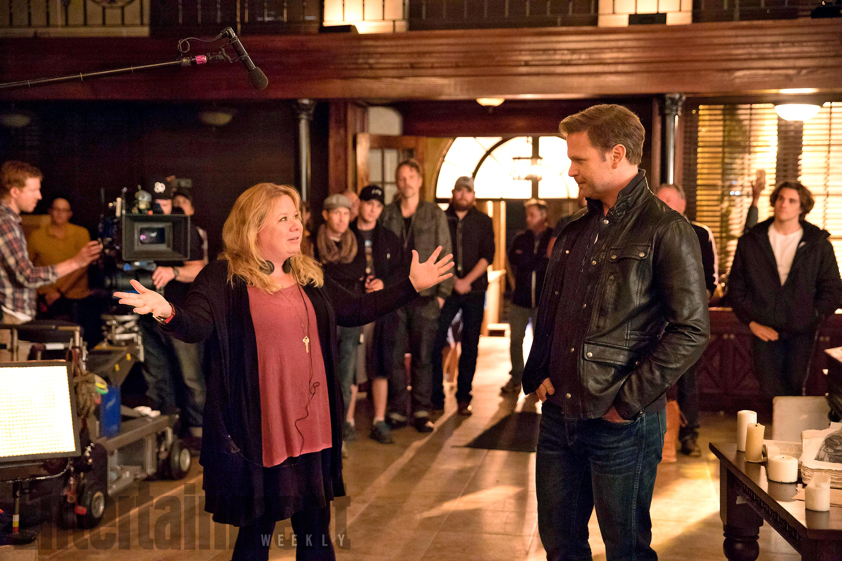 The Vampire Diaries Episode: I Was Feeling EpicSeason TK, Episode TKAir Date: Pictured (L-R): Julie Plec, Matt Davis BTS