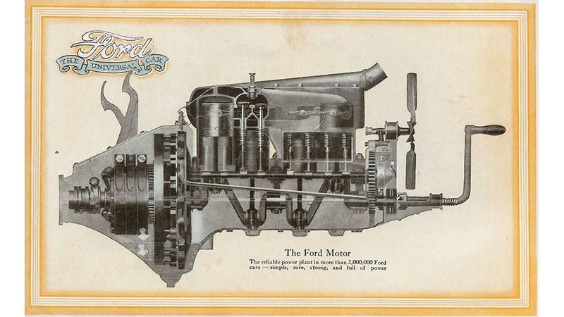 1918 Model T engine