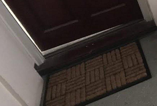The offending doormat