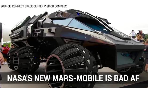 【ビデオ】NASAが2020年に投入を目指す、有人火星探査車のコンセプト・モデルを公開!