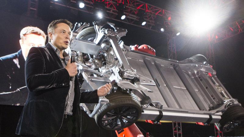 Tesla Model S chassis
