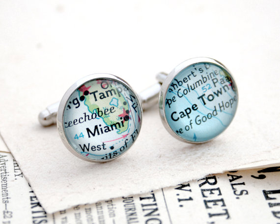 custom cufflinks on Etsy for Valentine's Day