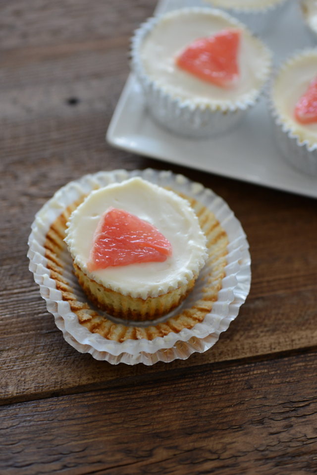Mini Grapefruit Cheesecakes