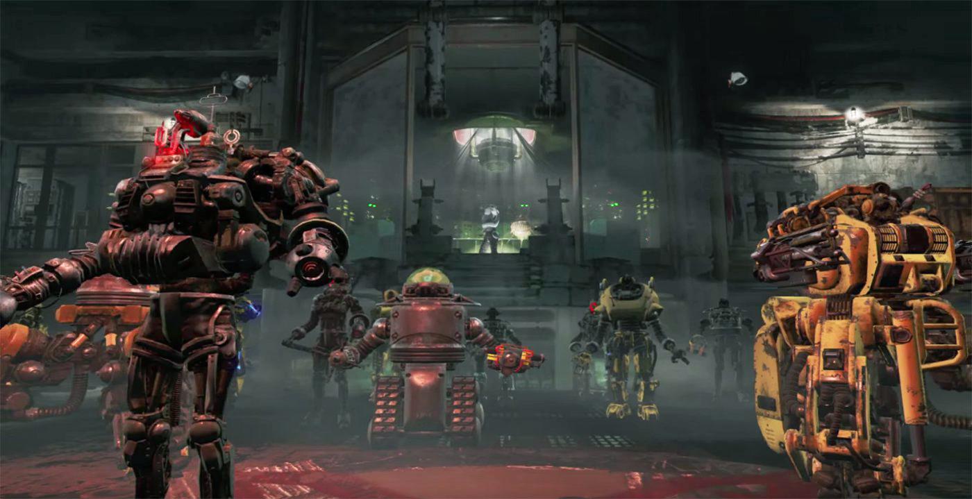 39 fallout 4 39 s 39 first dlc trailer is big on killer robots. Black Bedroom Furniture Sets. Home Design Ideas