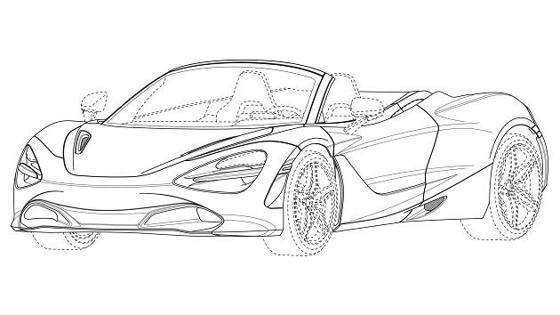 マクラーレン、欧州特許庁に提出された資料図で「720S スパイダー」の開発を示唆
